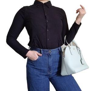Princess Vera Wang Black Lace Collar Blouse